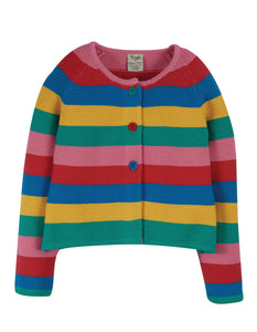 Frugi Rainbow Swing Cardigan - Rainbow Stripe