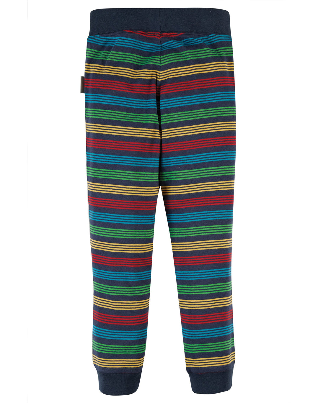 New Release Frugi Favourite Cuffed Legging Tobermory Rainbow Stripe - The Thrifty Stork