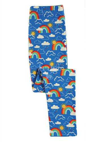 Frugi, Libby Printed Leggings, Rainbow Skies