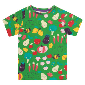 Piccalilly Grow Your Own All Over Print T-Shirt -  Green