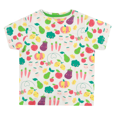 Piccalilly Grow Your Own All Over Print T-Shirt - White