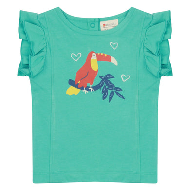 Piccalilly Toucan Ruffle Vest Top