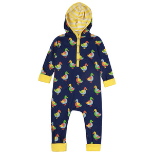 Piccalilly Duck Hooded Playsuit - The Thrifty Stork