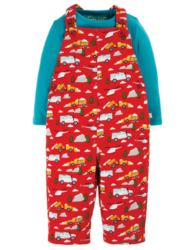 New Release Frugi Rae Dungaree Outfit Mountain Rescue - The Thrifty Stork