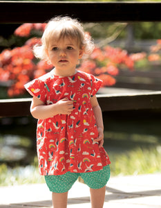Frugi Waterfall Woven Outfit Skateboarding Cranes