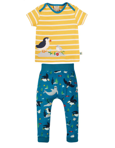 Frugi The National Trust Olly Outfit Set - Puffin