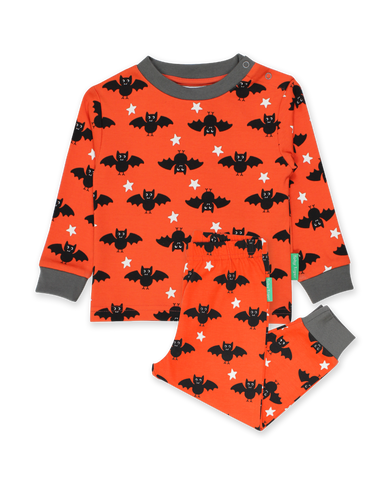 Toby Tiger Organic Pyjamas - Bat Orange