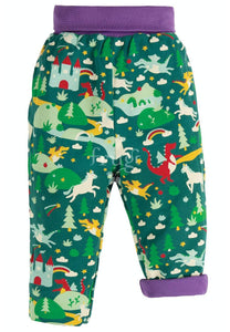 New Release Frugi Rory Reversible Pull Ups Scots Pine Fairytale - The Thrifty Stork
