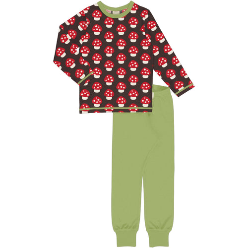 Maxomorra Pyjama Set Long Sleeve - Mushroom