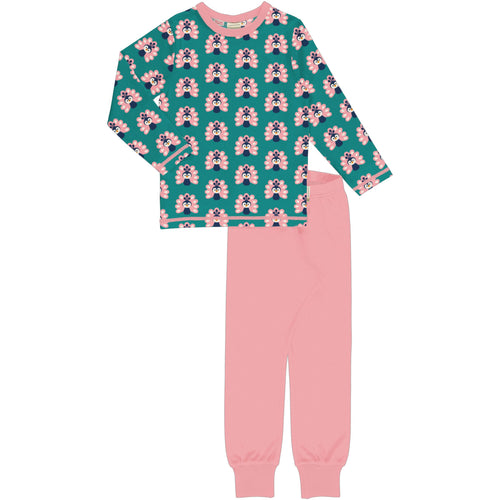 Maxomorra Pyjama Set Long Sleeve - Peacock