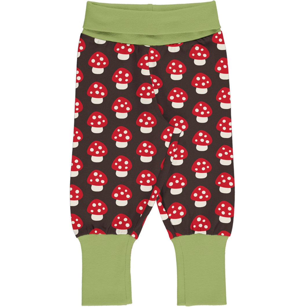 Maxomorra Pants Rib Mushroom - The Thrifty Stork