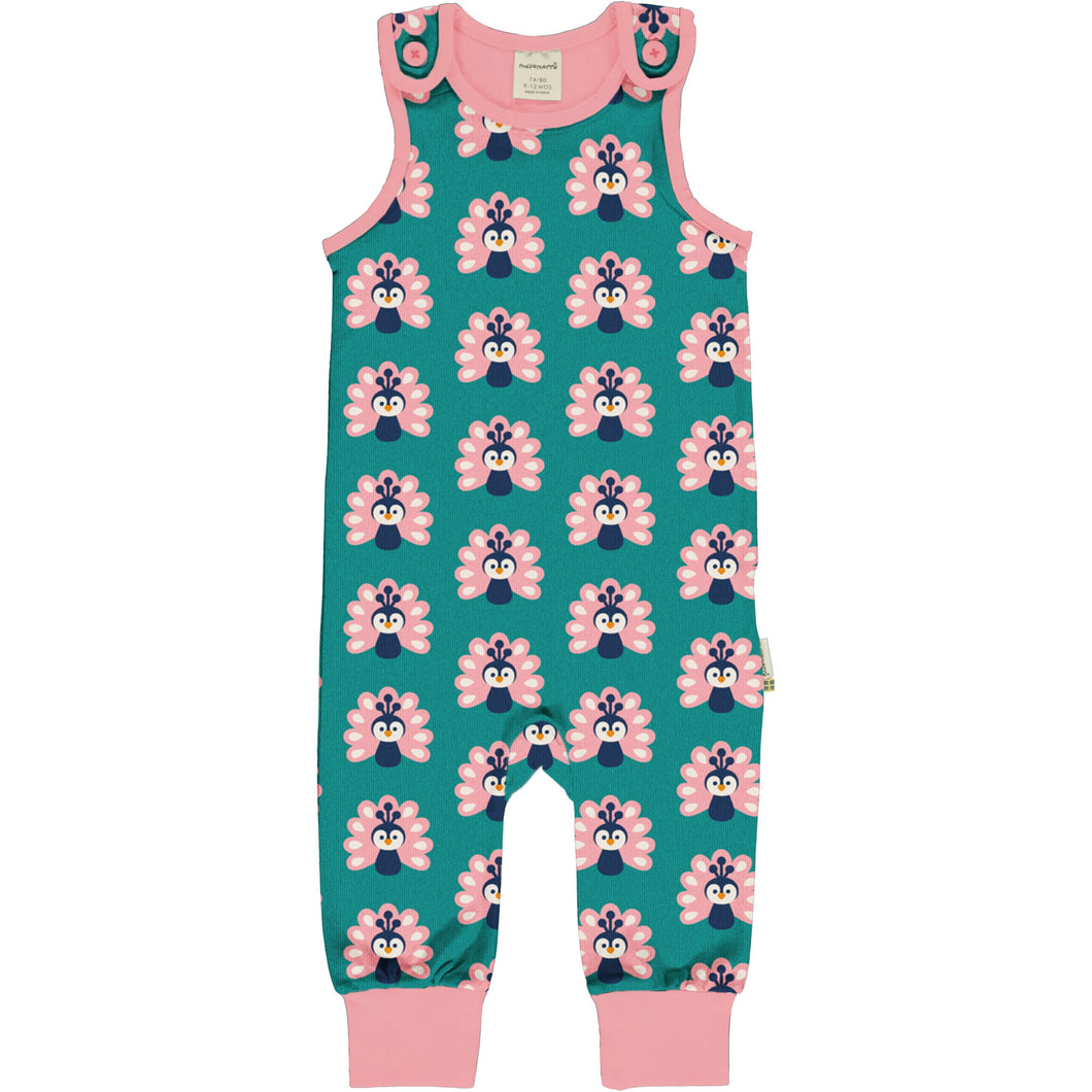 Maxomorra Playsuit Peacock - The Thrifty Stork