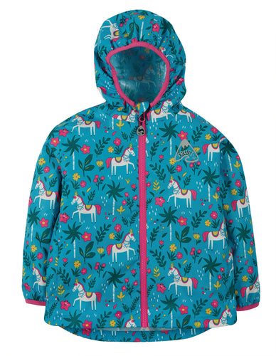 Frugi, Rain Or Shine Jacket, Teal Indian Horse