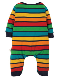 Frugi  Charlie Romper Bumble Rainbow Stripe/Sheep