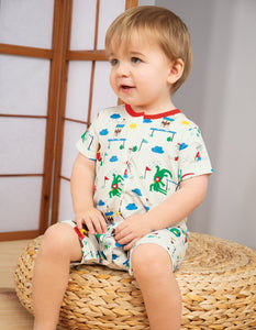 Frugi Orin Romper On Your Marks