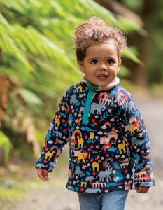 Frugi Snuggle Fleece  Indigo India