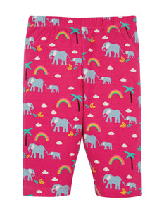 Frugi, Laurie Shorts, Deep Pink Rainbow Walks