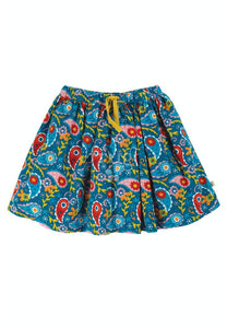 New Release Frugi Lizzie Cord Skirt Pixie Paisley - The Thrifty Stork