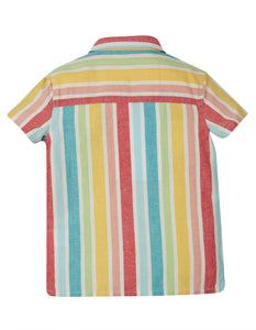 Frugi Jamaal Shirt - Rainbow Stripe