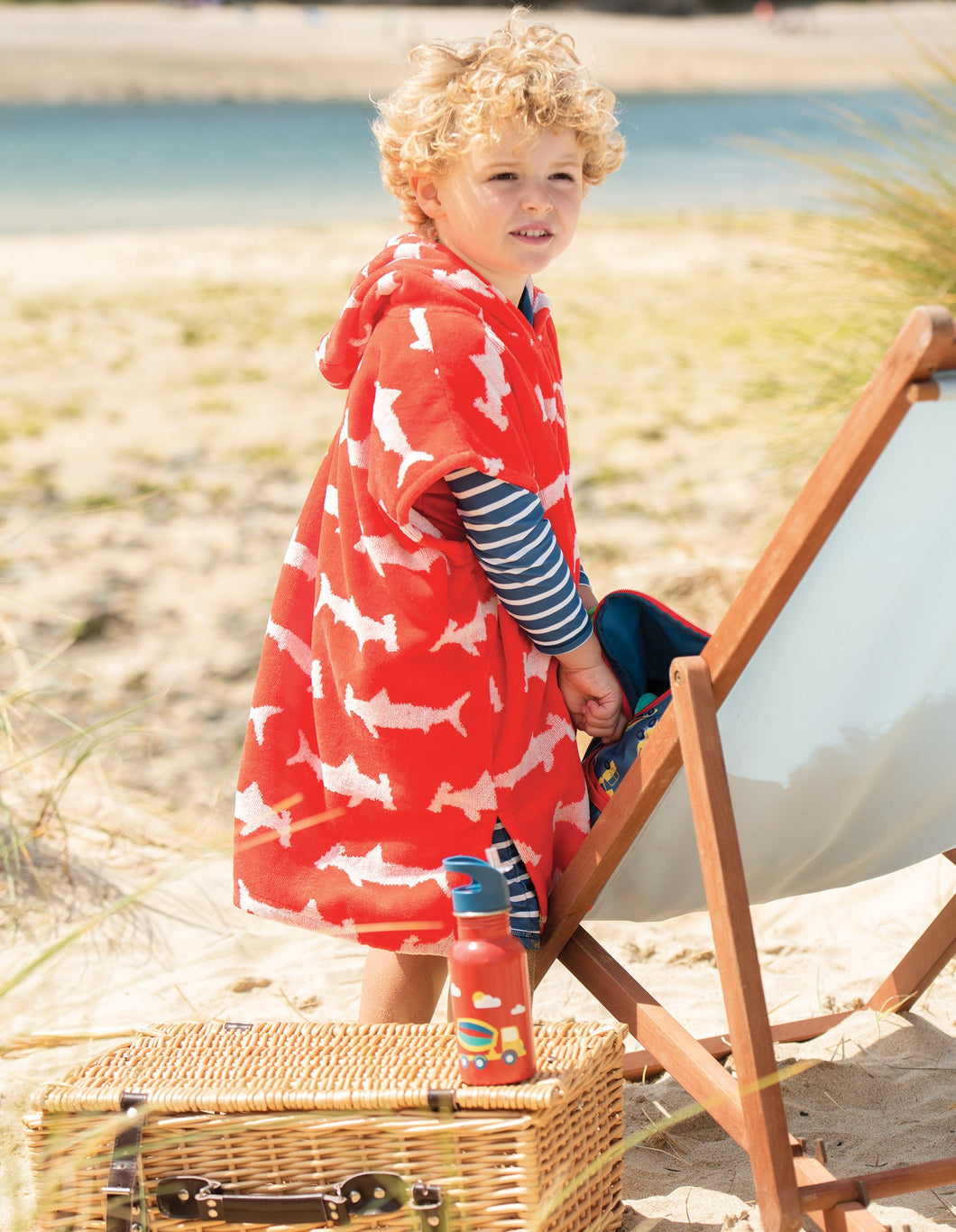 Frugi Havana Hooded Towel Hammerhead Sharks