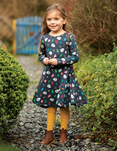 Frugi  Norah Tights Bumble Bee Spot