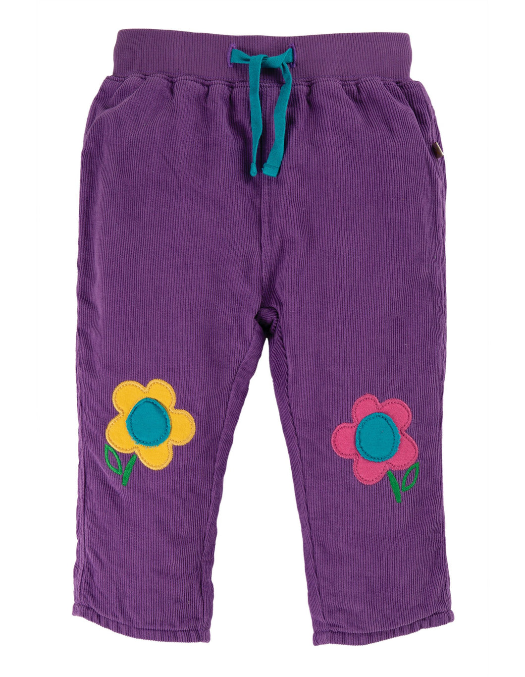Frugi  Little Cord Patch Trousers Thistle