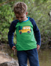 Frugi  Alfie Raglan Top Glen Green/Truck
