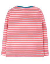 Frugi  Discovery Applique Top Guava Pink Stripe/Horse