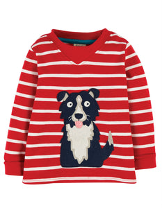 Frugi  Easy On Top Tango Red Breton/Dog
