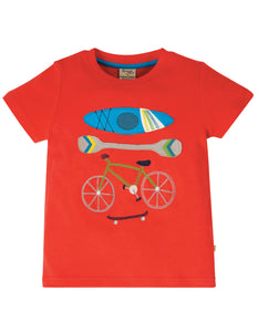 Frugi Carsen T-Shirt Koi Red/Sports