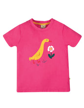 Frugi, Avery Applique Top, Rich Pink/Duck