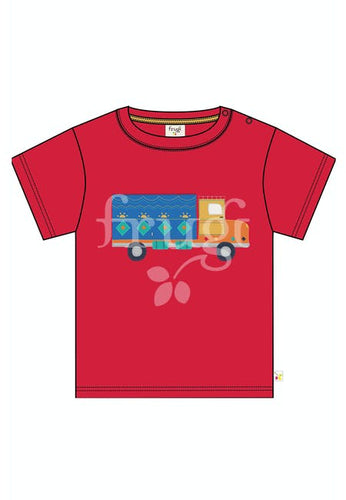 Frugi, Playdate Tee, True Red/Truck