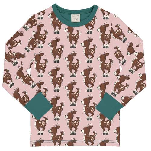 Maxomorra Top Long Sleeve Fawn