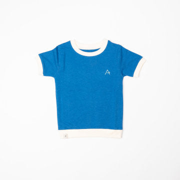 Alba Of Denmark Vesta T-Shirt Short Sleeve - Snorkel Blue