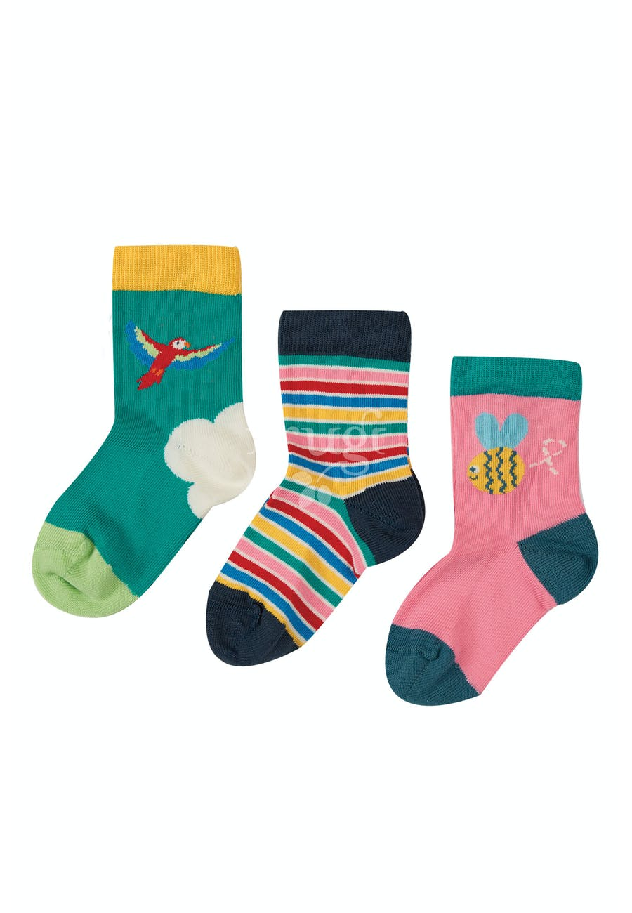 Frugi Little Socks - Bee (3 Pack Multipack)