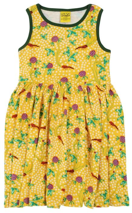 DUNS  Sleeveless Dress with Gathered Skirt  Red Clover