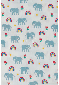 Frugi, Lovely 2 Pack Muslin,  Elephant Multipack