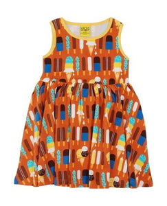 Duns  Sleeveless Dress With Gathered Skirt Ice Cream Pumpkin - The Thrifty Stork