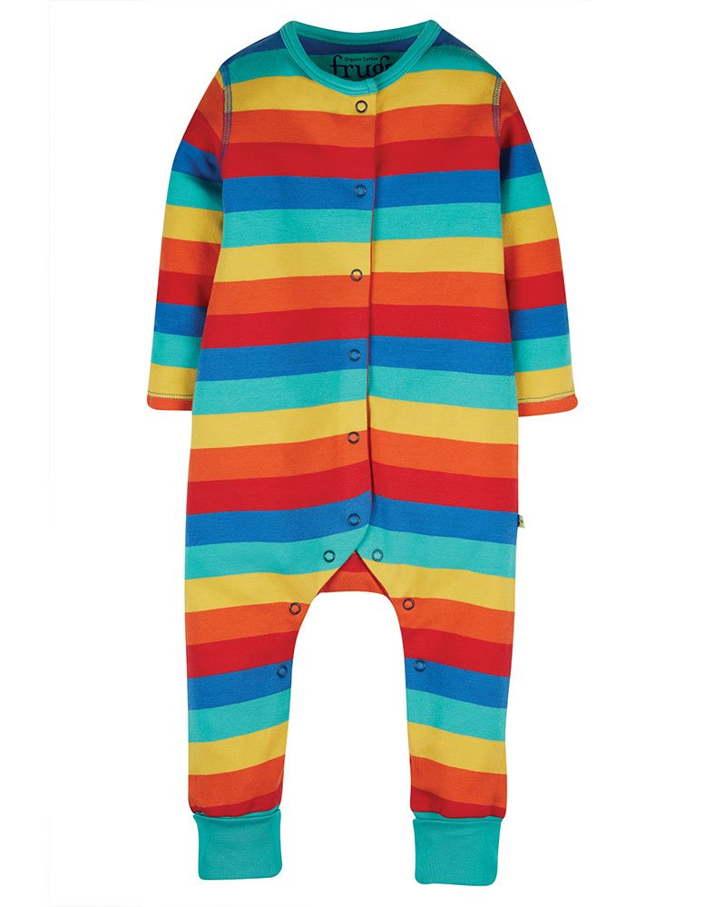Frugi Riley Romper - Rainbow Stripe