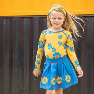 Alba of Denmark Ghita Blouse Bright Gold Flower Power