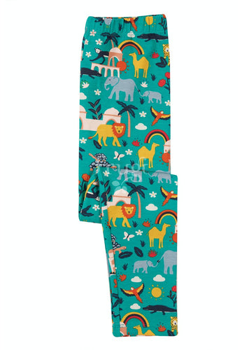 Frugi Libby Printed Leggings - Jewel India