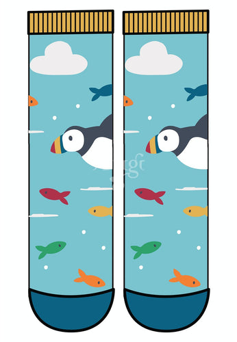 Frugi The National Trust Perfect Pair Socks - Puffin