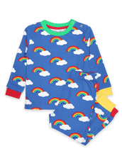 Toby Tiger Organic Rainbow Print Pyjamas Multicoloured - The Thrifty Stork