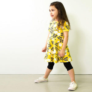 Paapii Sani Skaterdress Midsummer Rose Yellow/Dark Grey - The Thrifty Stork