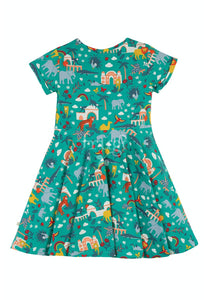 Frugi Spring Skater Dress Short Sleeve - Jewel India