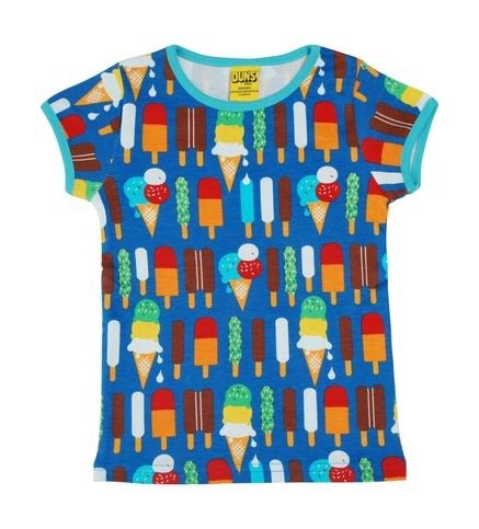 Duns  Short Sleeve Top Ice Cream Blue - The Thrifty Stork
