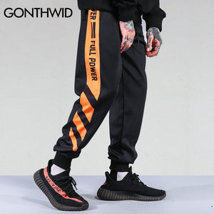 GONTHWID Striped Patchwork Harem Pants Mens 2017 Hip Hop Printed Color Block Casual Joggers Sweatpants Trousers Male Streetwear