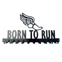 Born To Run Medals Rack- 10 Hook - Knob Creek Metal Arts