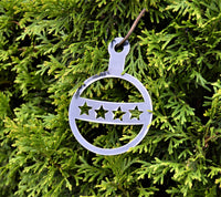 Retro Style Christmas Ornament Set (Set of 4) - Knob Creek Metal Arts