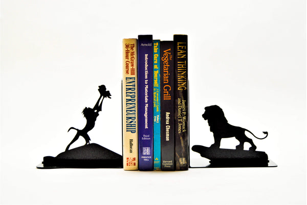 King of the Jungle Bookends - Knob Creek Metal Arts